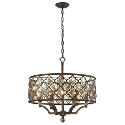 Elk Lighting Armand 6-Light Mini Pendant in Weathered Bronze