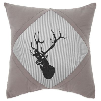 True Timber Southwest Square Throw Pillow in Grey