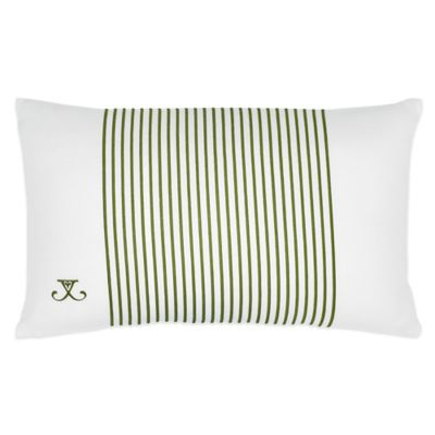 Jill Rosenwald Arrows Embroidered Oblong Throw Pillow in White