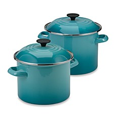 Le Creuset Stockpot In Caribbean Blue Bed Bath Beyond