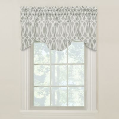 Abel M-Shaped Lined Valance in Flint