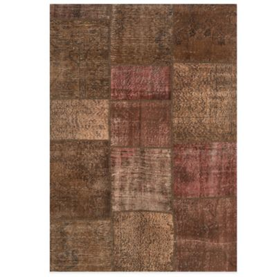 Beekman 1802 Kindfolk Patchwork 6-Foot x 9-Foot Rug in Chocolate