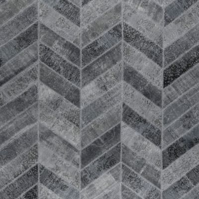 Grey Herringbone Rug