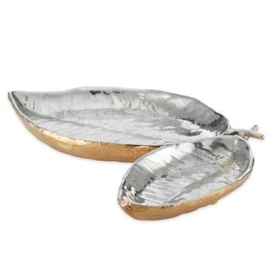 Lunares Feather Double Dish