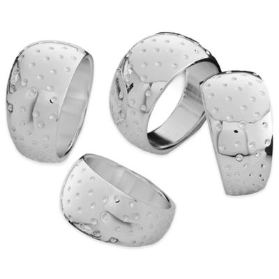Nambe Dazzle Napkin Rings (Set of 4)