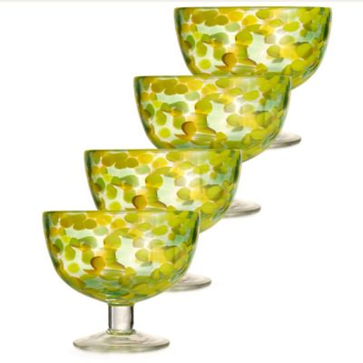 Fitz and Floyd® Splash Ice Cream Bowls in Green (Set of 4)