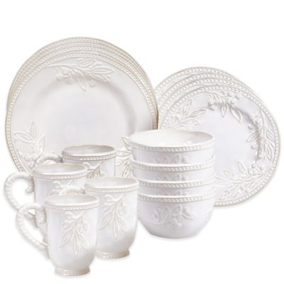 Certified International Bianca Branches 16-Piece Dinnerware Set in Ivory