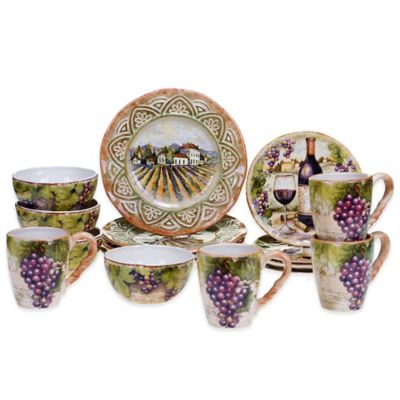 Certified International Sanctuary Wine 16-Piece Dinnerware Set
