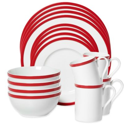 Red Sets of Dinnerware