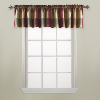 Plaid Red Curtain Valance