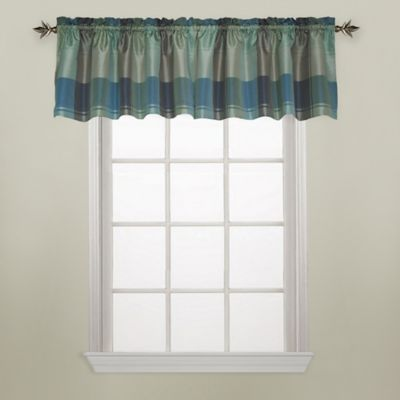 Plaid Window Curtain Valance in Blue/Green