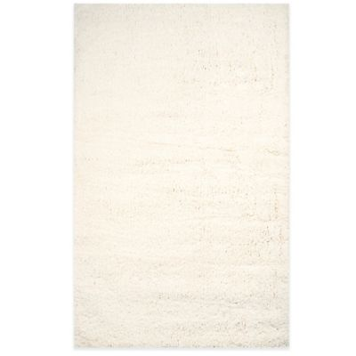 Cozy Plush 3-Foot 6-Inch x 5-Foot 6-Inch Shag Area Rug in Ivory