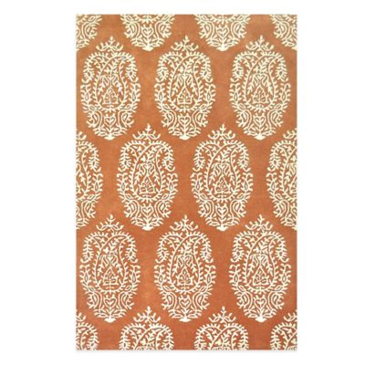 Marsaille 5-Foot x 7-Foot 6-Inch Area Rug in Rust Ivory