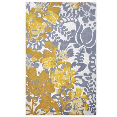 Nila 5-Foot x 7-Foot 6-Inch Area Rug in Grey/Yellow