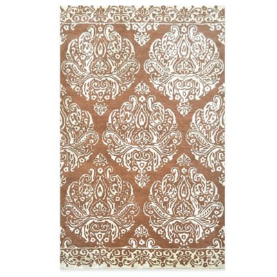 Medallion 5-Foot x 8-Foot Area Rug in Rust Ivory
