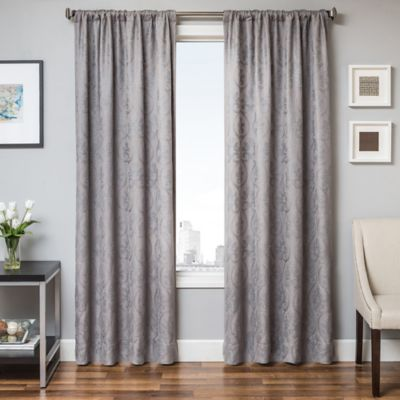 Halo 84-Inch Window Curtain Panel in Blue/White