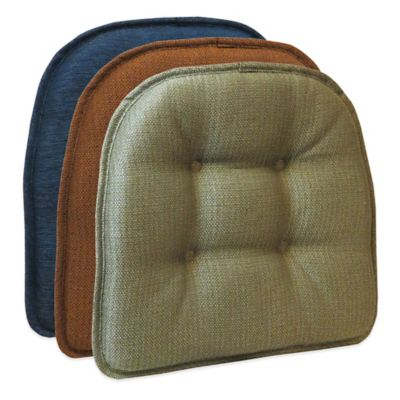 Klear Vu Tufted Omega Gripper® Chair Pad in Flame
