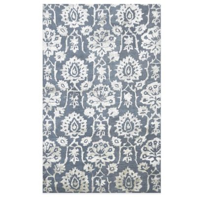 Floral 5-Foot x 8-Foot Area Rug in Slate Blue/Grey