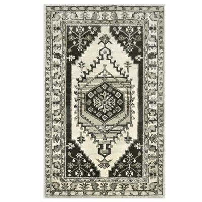 Century 8-Foot x 11-Foot Area Rug in Black/Ivory