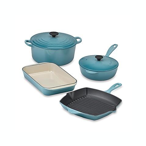 Le Creuset Caribbean Blue 6 Piece Cookware Set Bed Bath