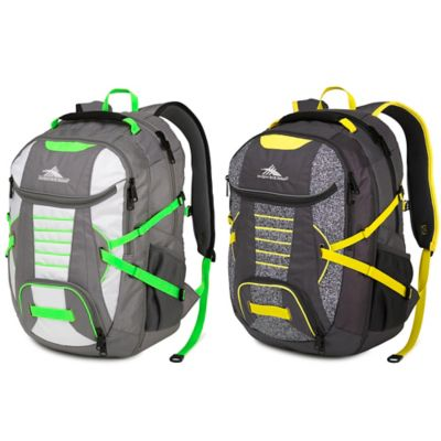 Grey Yellow Laptop Backpack
