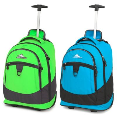 High Sierra® Chaser 20-Inch Wheeled Backpack in Lime/Mercury