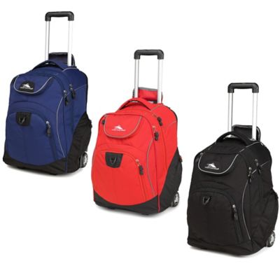 Blue Black Wheeled Backpack