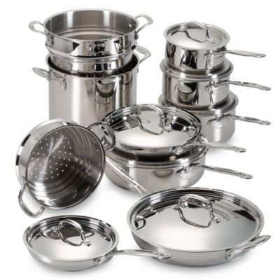 Cuisinart® Stainless Steel 17-Piece Cookware Set