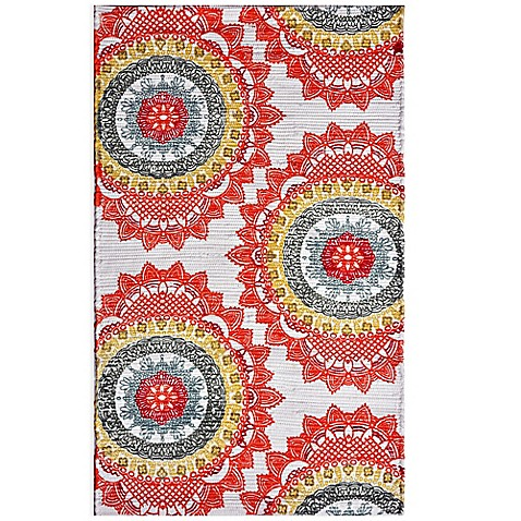 Anthology Chindi Dhuri Medallion Rug In Red Bed Bath