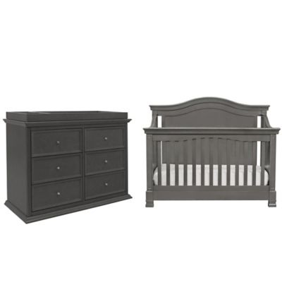 Million Dollar Baby Classic 5-Piece Louis Nursery Bundle Set in Manor Grey
