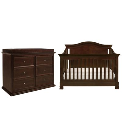Million Dollar Baby Classic 4-Piece Louis Nursery Bundle Set in Espresso