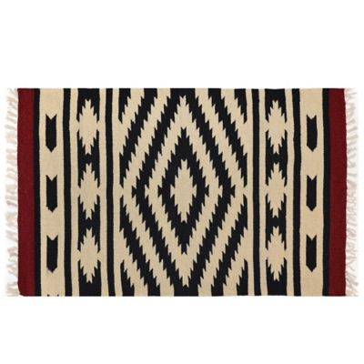 Dhurrie 2-Foot 3-Inch x 3-Foot 9-Inch Multicolor Rug
