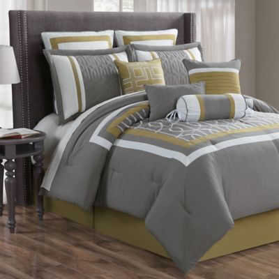 Morris 10-Piece Queen Comforter Set in Charcoal/Multi