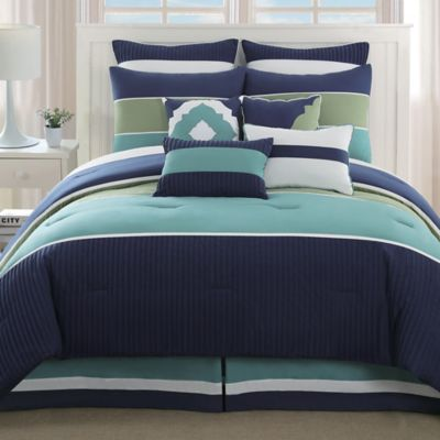 Santorini 10-Piece Queen Comforter Set