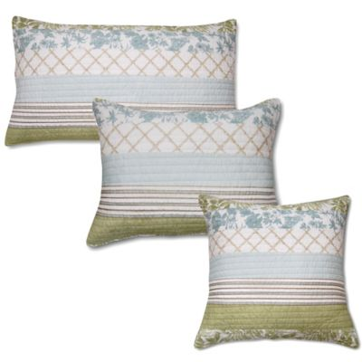 Panama King Pillow Sham in Steel Blue