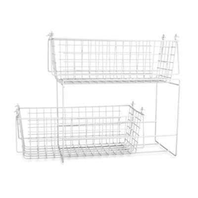 Large Two-Basket Slide Out Organizer