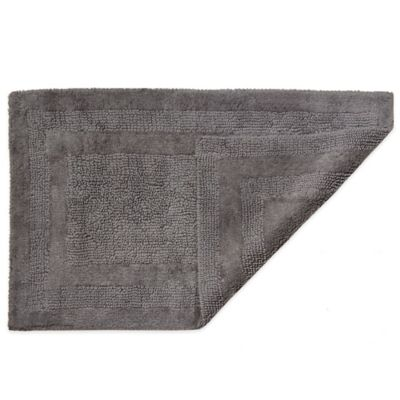 HygroSoft by Welspun 1-Foot 5-Inch x 2-Foot Reversible Bath Rug in Pewter