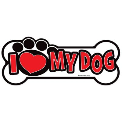 "Magnet America ""I Love My Dog"" Pet Magnet in Red"