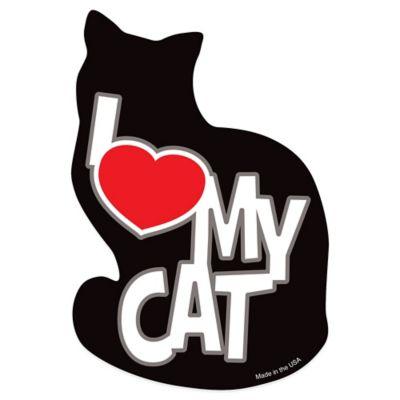 "Magnet America ""I Love My Cat"" Pet Magnet in Black"