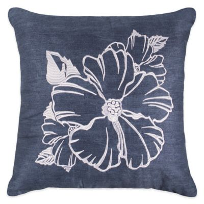 Caribbean Joe Martinique Square Throw Pillow in Indigo