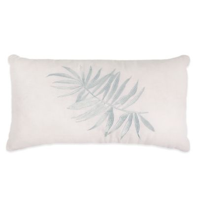 Caribbean Joe Kayla Oblong Throw Pillow in White