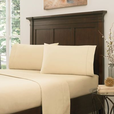 Crowning Touch by Welspun RSVP 800-Thread-Count Egyptian Cotton Full Sheet Set in Butter Cream