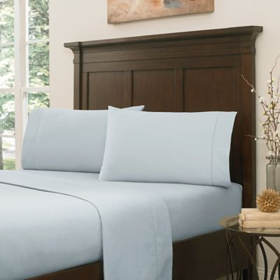 Crowning Touch by Welspun RSVP 800-Thread-Count Egyptian Cotton Full Sheet Set in Blue