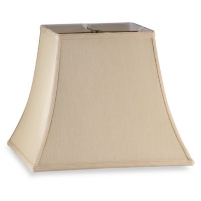 mix match large 14 inch squared bell lamp shade in ivory. Black Bedroom Furniture Sets. Home Design Ideas
