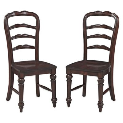 Home Styles Colonial Classic Dining Chairs in Dark Cherry (Set of 2)