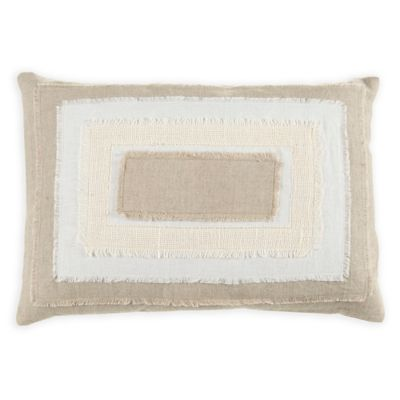 Beekman 1802 Stillwater Stacked Oblong Throw Pillow in Natural