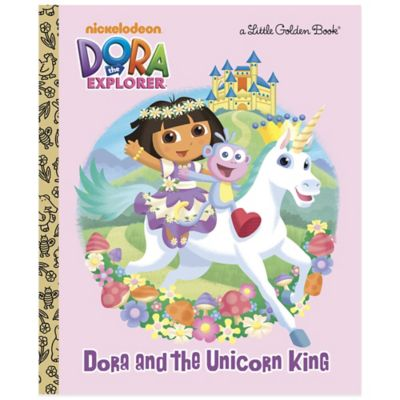 """Dora and the Unicorn King"" Little Golden Book"