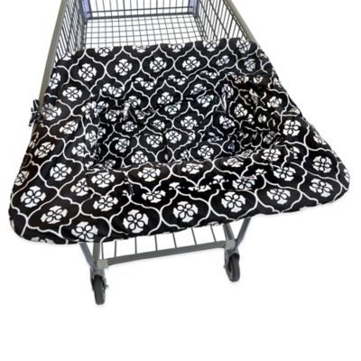 JJ Cole® Shopping Cart Cover in Black Floret