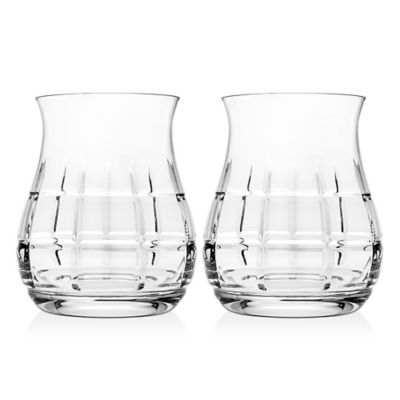 Godinger Top Shelf Tartan Whiskey Glasses (Set of 2)