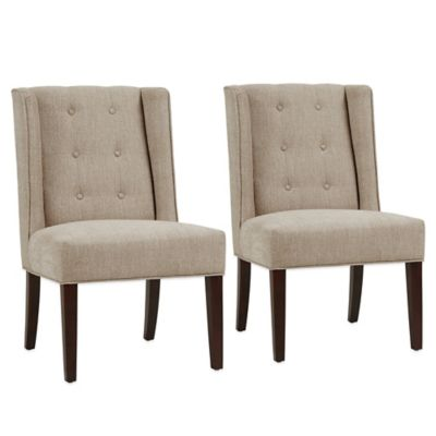 Madison Park Blakely Dining Chairs in Linen (Set of 2)